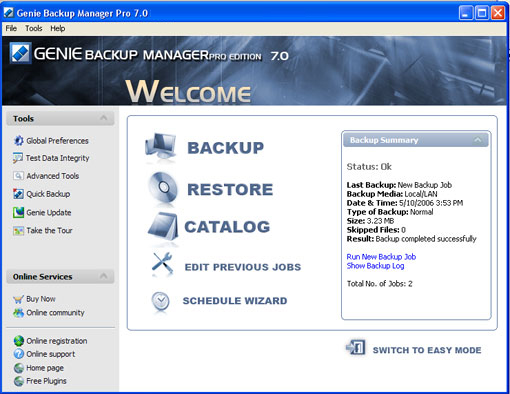 backup, restore, archive, outlook, outlook express, increment, encryption