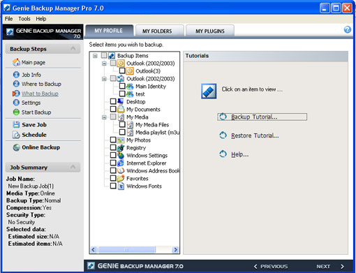 Genie Backup Manager Professional