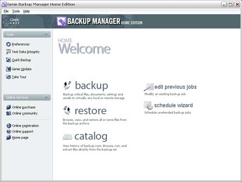 Click to view Genie Backup Manager 5.0 screenshot